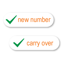 """1) Create a Birdie account with an email address. Select """"standard plan"""" and choose the designated plan after email verification. Then you can choose to use a new number or carry over an existing number to Birdie Mobile."""