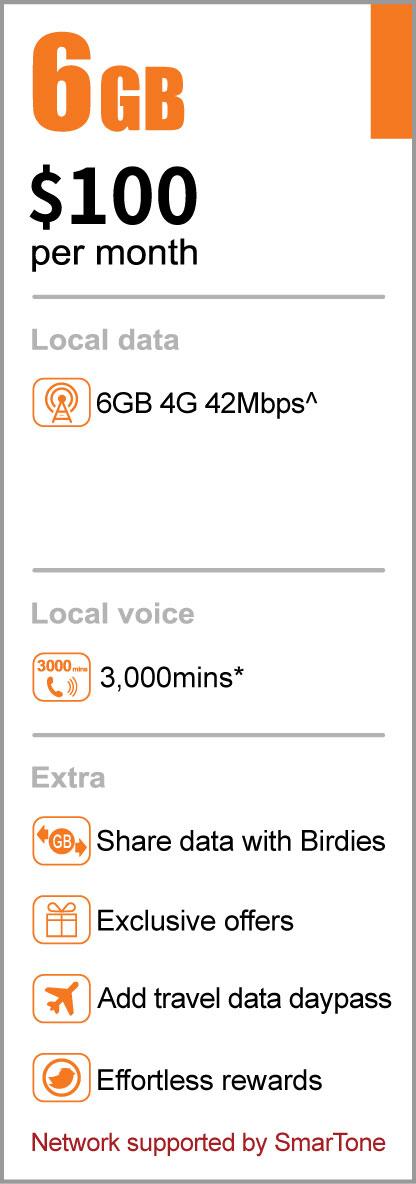 Birdie mobile service 6GB basic plan offer
