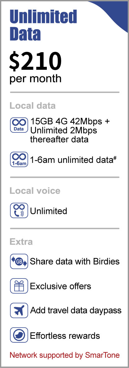 Birdie mobile service unlimited data plan offer